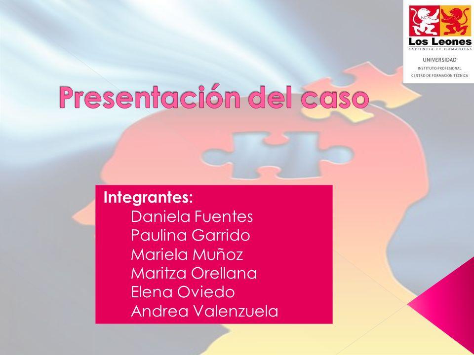 Integrantes: Daniela Fuentes Paulina Garrido Mariela Muñoz Maritza Orellana Elena Oviedo Andrea Valenzuela