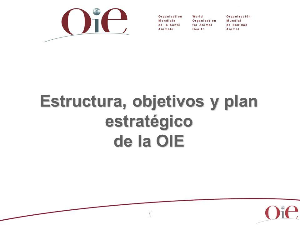 1 Estructura, objetivos y plan estratégico de la OIE
