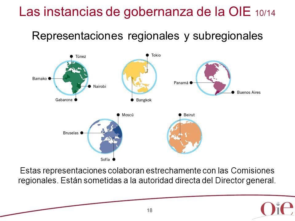 18 Estas representaciones colaboran estrechamente con las Comisiones regionales. Están sometidas a la autoridad directa del Director general. Las inst