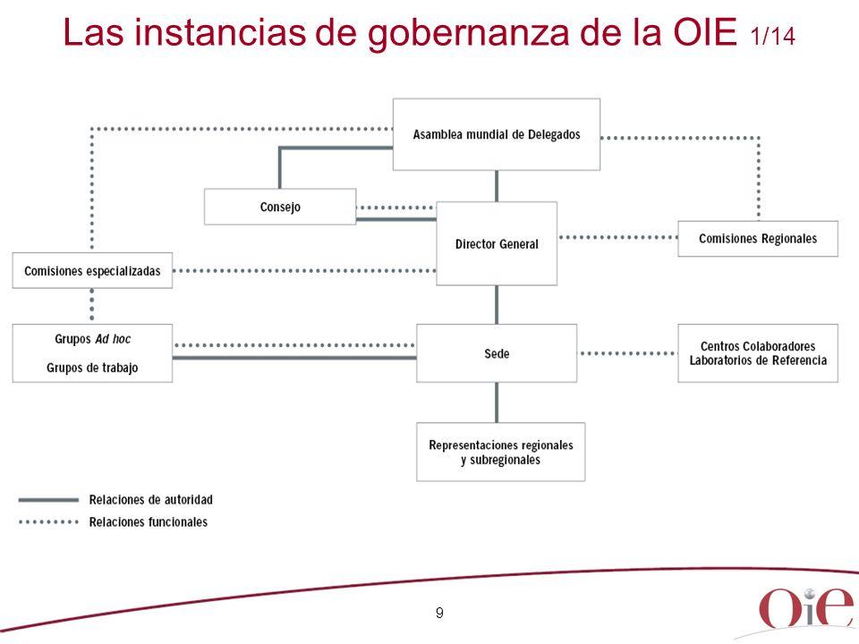 9 Las instancias de gobernanza de la OIE 1/14