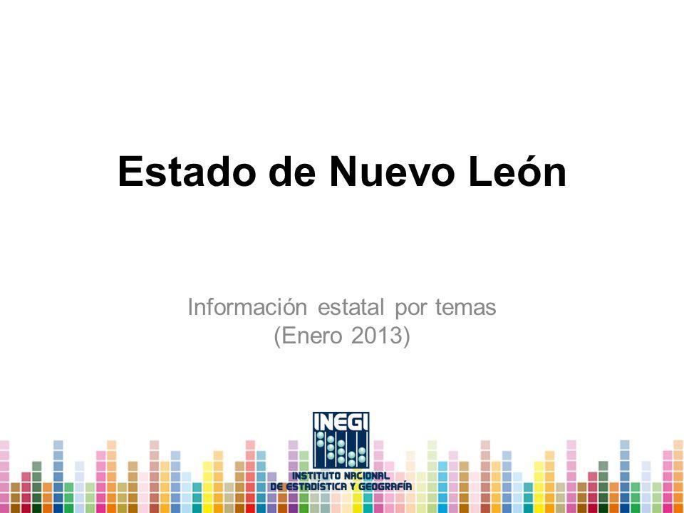 Estado de Nuevo León Información estatal por temas (Enero 2013)