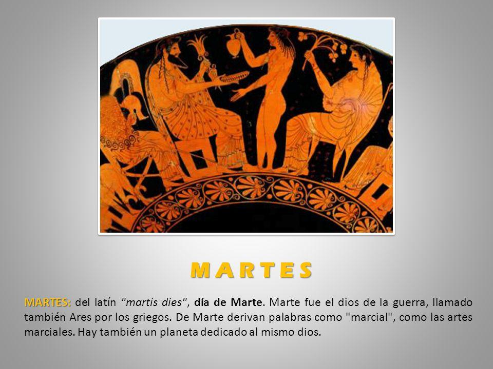 MARTES: MARTES: del latín