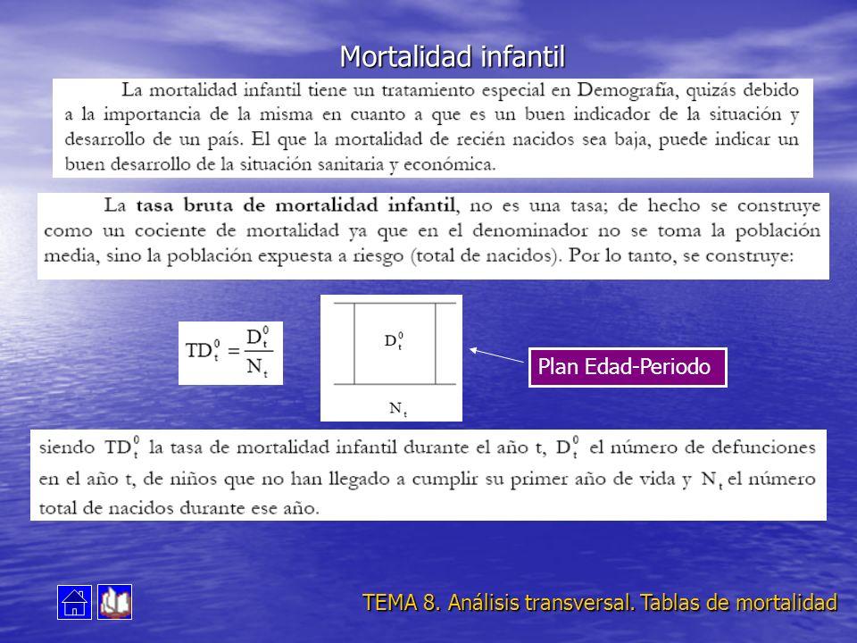 Plan Edad-Periodo TEMA 8. Análisis transversal. Tablas de mortalidad