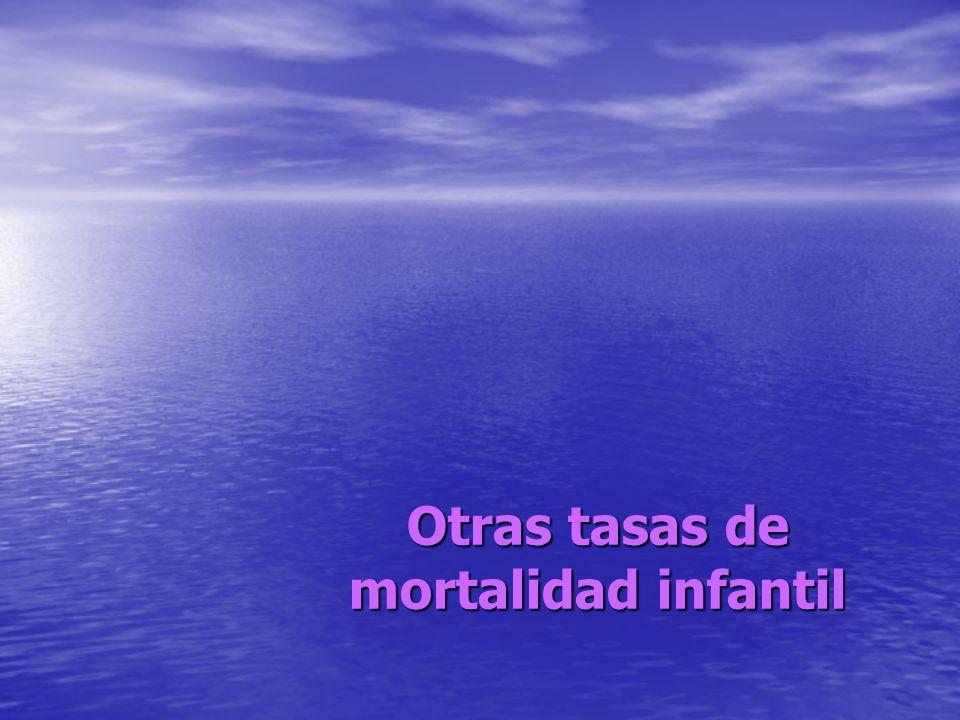 Otras tasas de mortalidad infantil