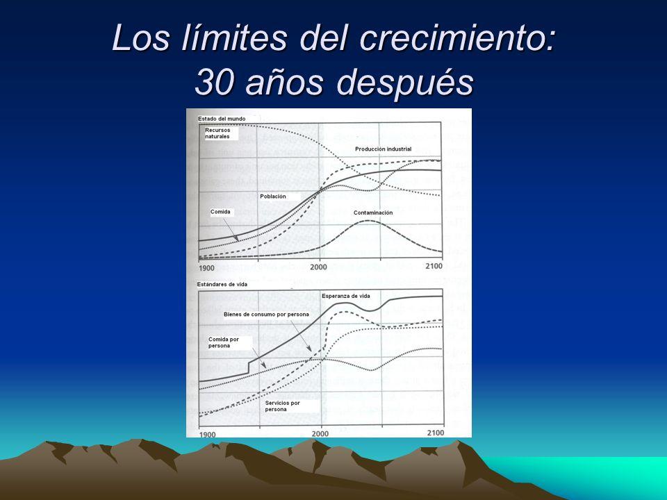 Los límites del crecimiento: 30 años después