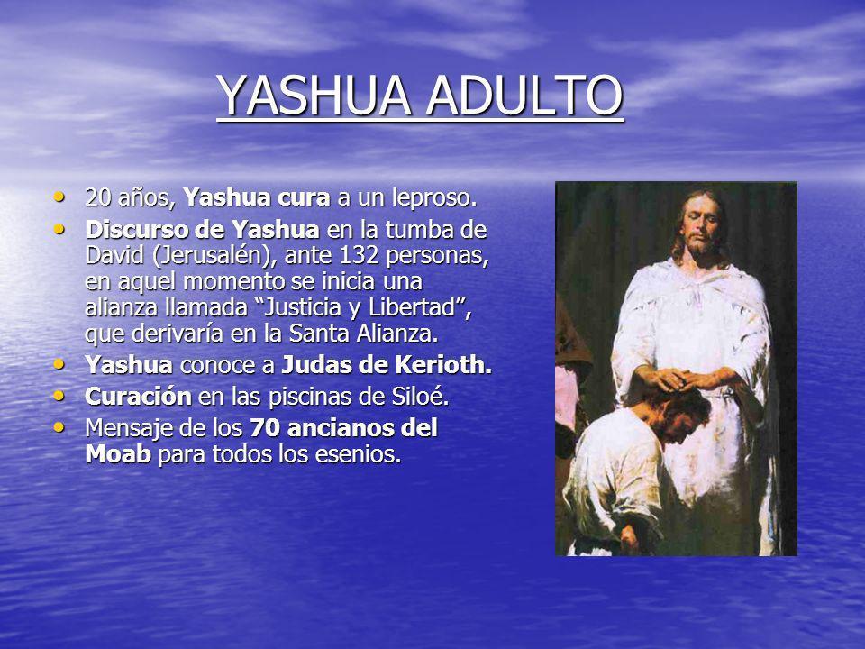 ADOLESCENCIA DE YASHUA 16 años, estadía de Yashua en el Santuario esenio del Tabor durante 40 lunas. 16 años, estadía de Yashua en el Santuario esenio