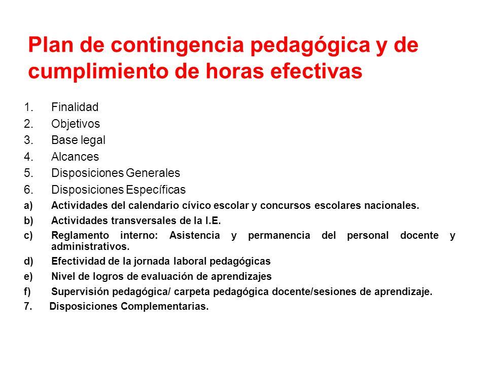 8. DISPOSICIONES COMPLEMENTARIAS: 8.1. Las IIEE que trabajaron con normalidad de acuerdo a su calendarización del año escolar 2012, no están considera