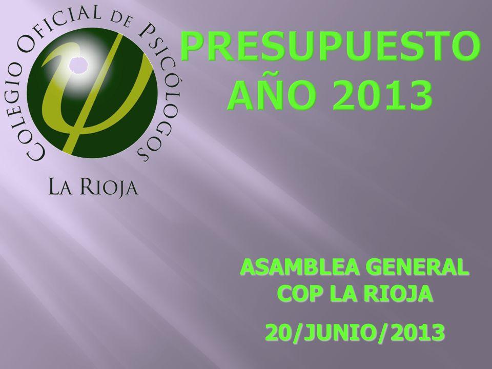 ASAMBLEA GENERAL COP LA RIOJA 20/JUNIO/2013