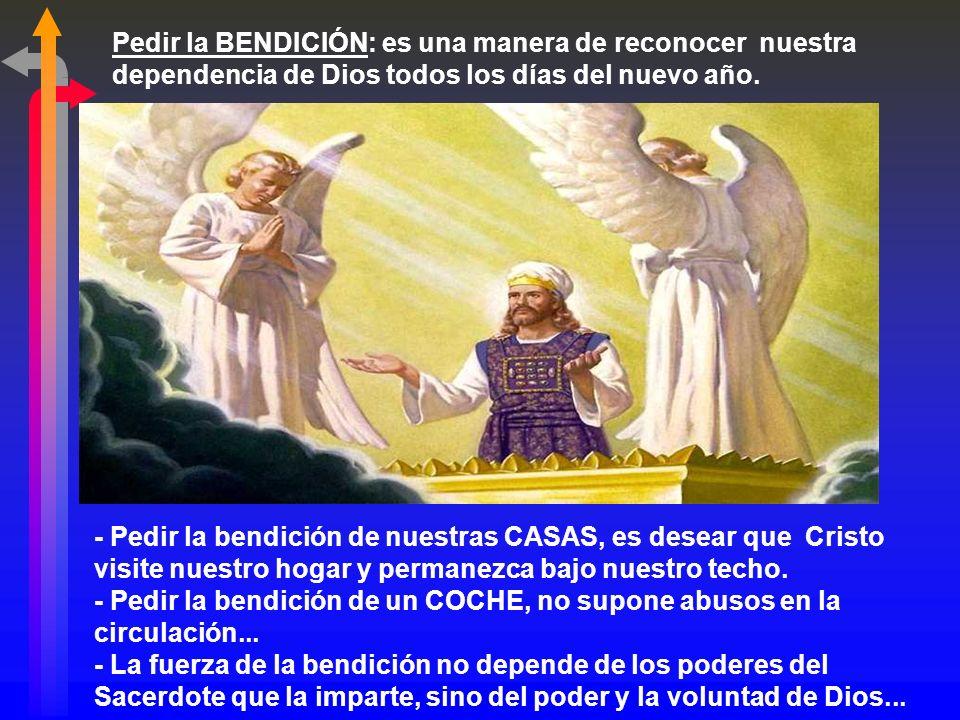 Es una bendición litúrgica, que actualiza la Alianza y asegura protección, benevolencia y paz. + ¿Qué sentido tiene pedir la bendición? La bendición n