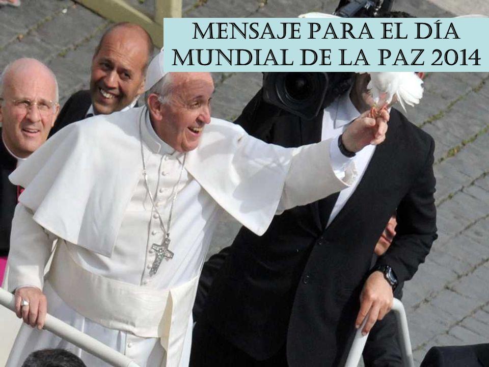 2. Hoy también es el DÍA MUNDIAL DE LA PAZ La Iglesia quiere recordarnos desde el primer día del año, que la paz anunciada por los ángeles en Belén, s