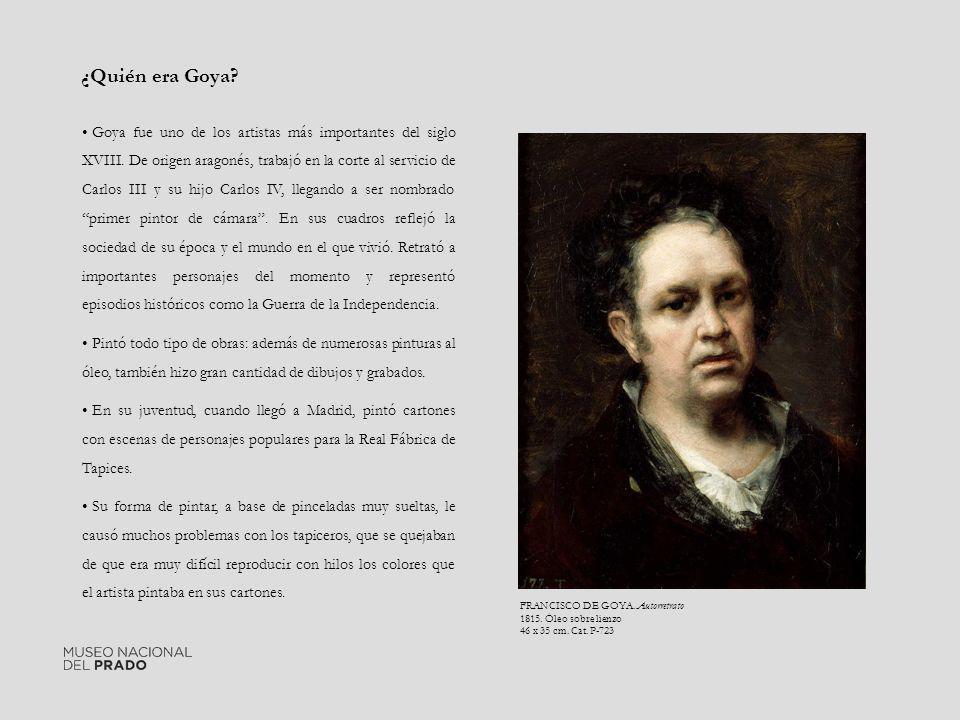 Goya fue uno de los artistas más importantes del siglo XVIII. De origen aragonés, trabajó en la corte al servicio de Carlos III y su hijo Carlos IV, l