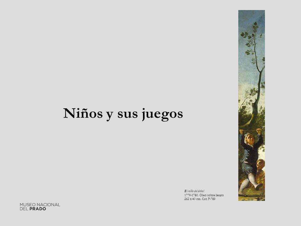 Niños y sus juegos El niño del árbol 1779-1780. Óleo sobre lienzo 262 x 40 cm. Cat. P-789
