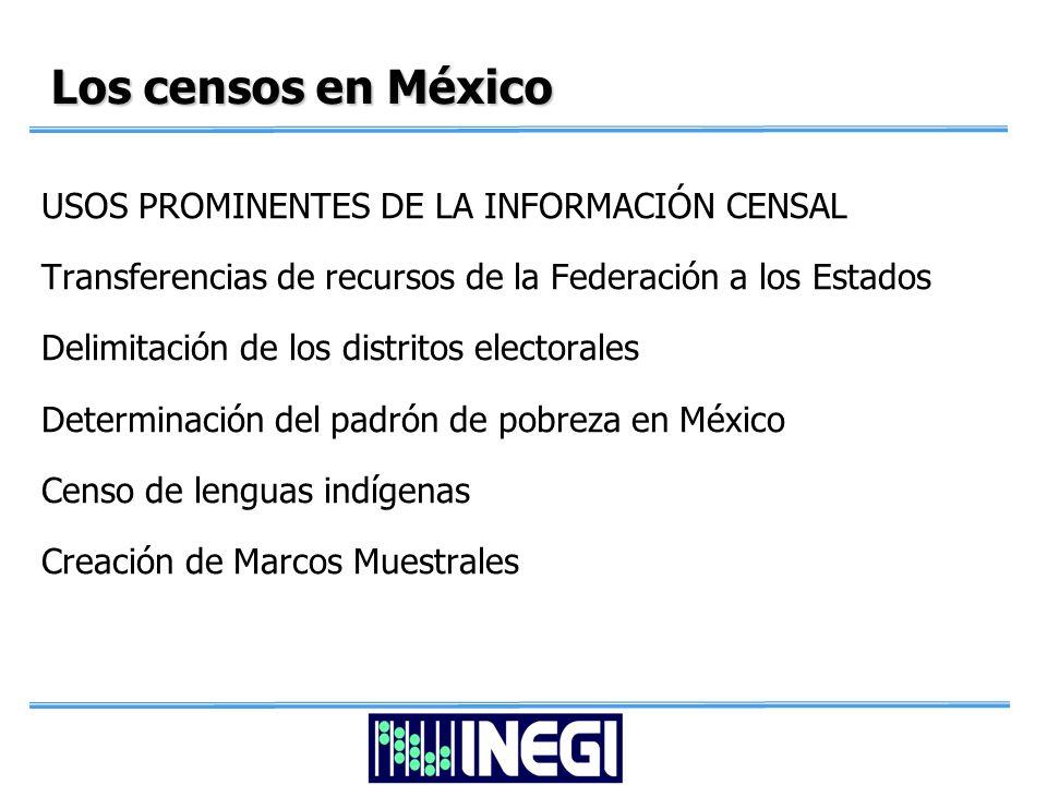 Los Censos en México INEGI RESULTADOS CENSALES A NIVEL DE MANZANA SEDESOL PADRÓN DE POBREZA ANTERIOR PADRÓN DE POBREZA ANTERIOR