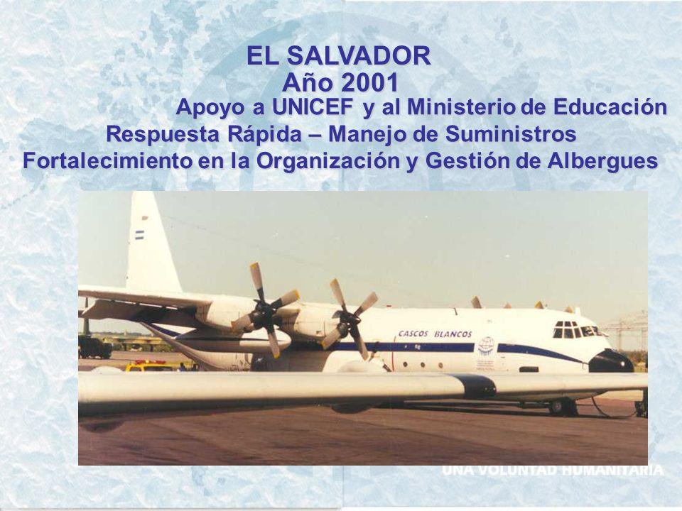 ECUADOR Año 1996 Asistencia Humanitaria