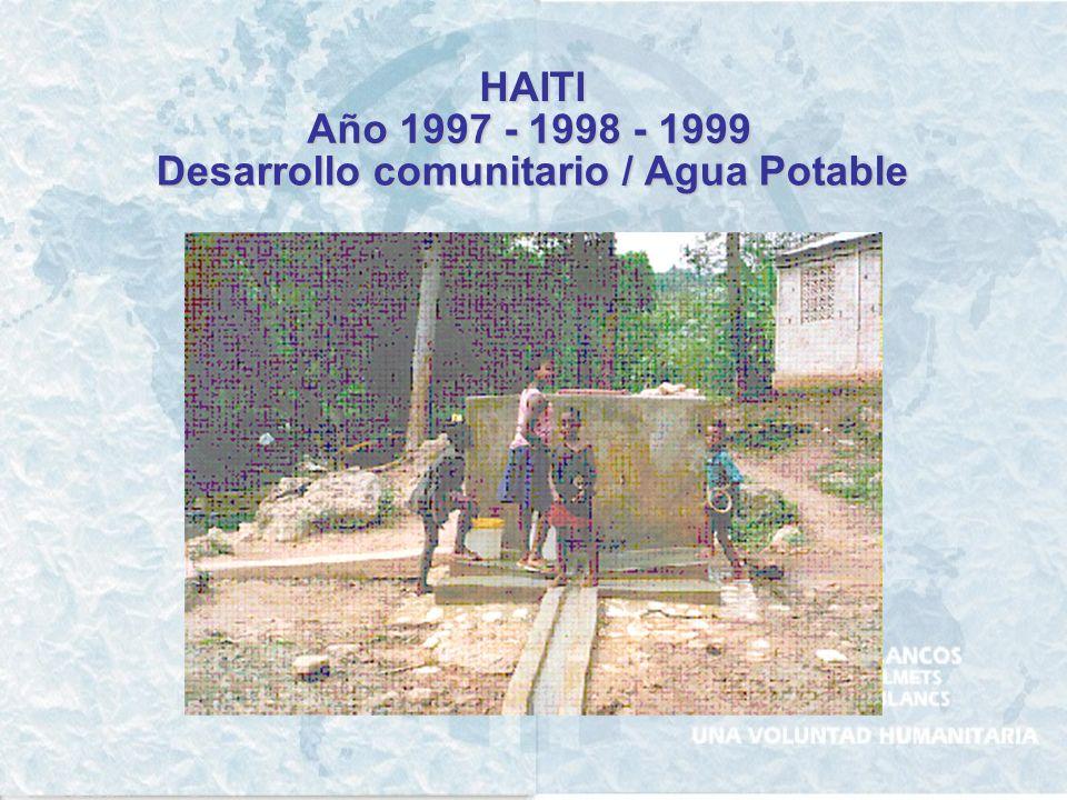 HAITI Año 1996 Logística para la distribución de alimentos