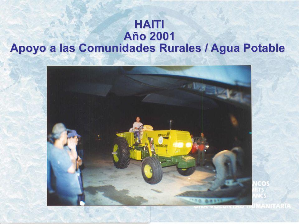 HAITI Año 1997 - 1998 - 1999 Desarrollo comunitario / Agua Potable