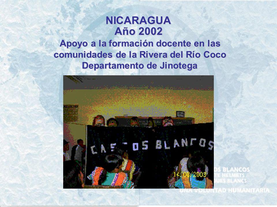 NICARAGUA Año 1999 Relevamiento de daños causados en el sector agrícola – ganadero por el Huracan Mitch