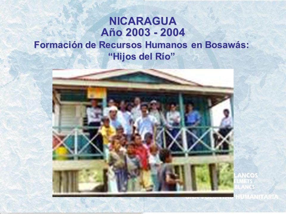 NICARAGUA Año 2001 - 2002 - 2003 Apoyo a la ganadería y agricultura de autoconsumo