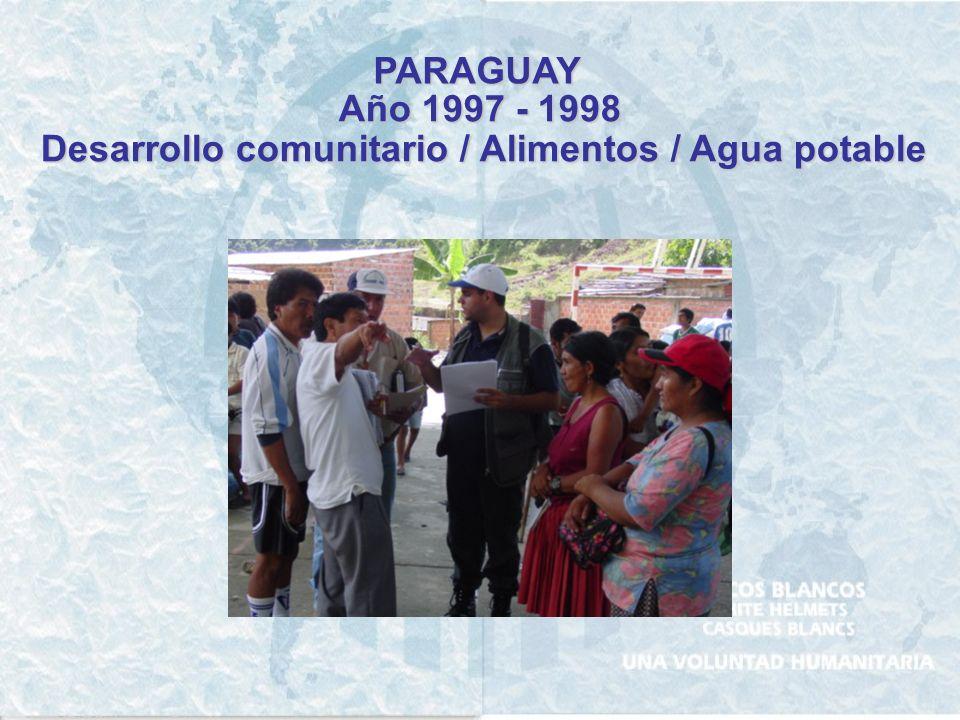 PANAMA Año 2003 Apoyo a la capacitación en servicios de salud y educación alimentaría nutricional
