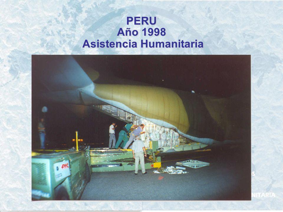 PERU Año 1996 Asistencia Humanitaria