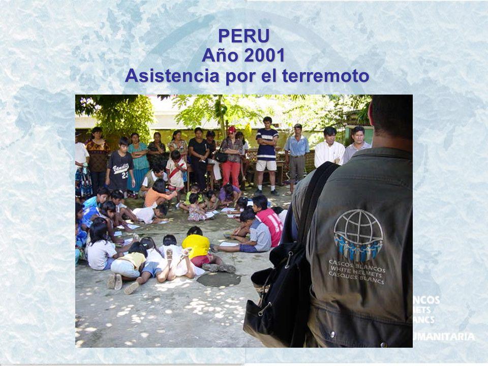 PERU Año 1998 Asistencia Humanitaria