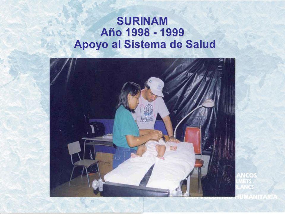 PERU Año 2001 Asistencia por el terremoto