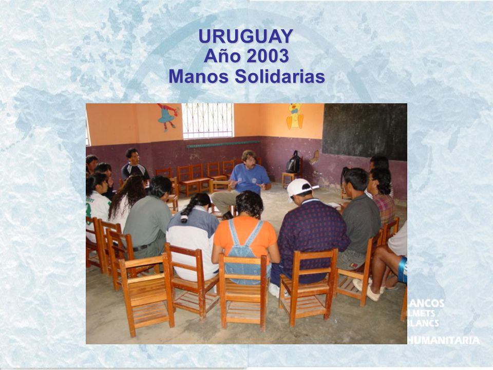 URUGUAY Año 2001 - 2002 Programa Piloto para un Plan de Emergencia y Control de Inundaciones para la ciudad de Durazno