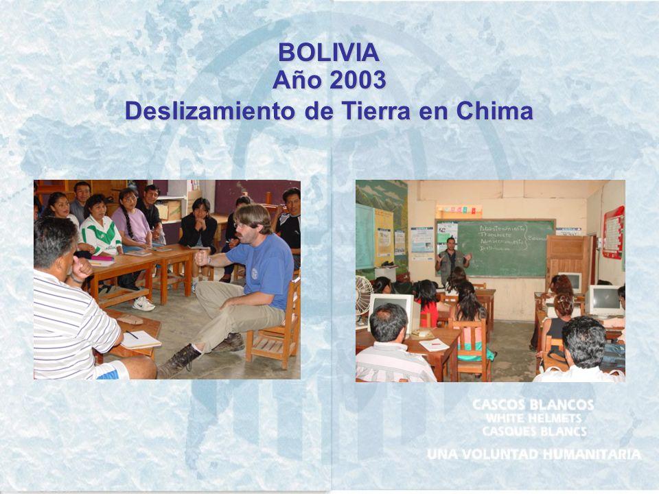 BOLIVIA Año 1997 Sismo Totora y Aiquile