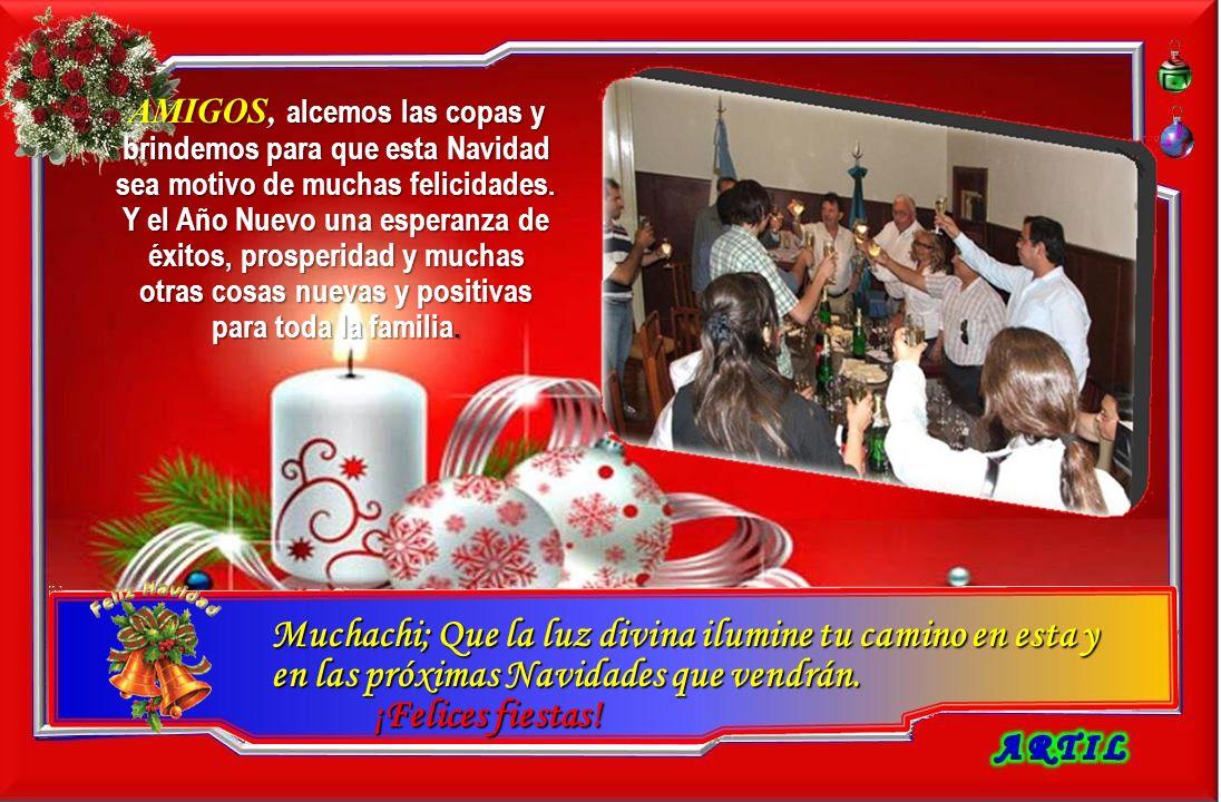 AMIGOS, AMIGOS, alcemos las copas y brindemos para que que esta Navidad sea motivo de muchas felicidades.