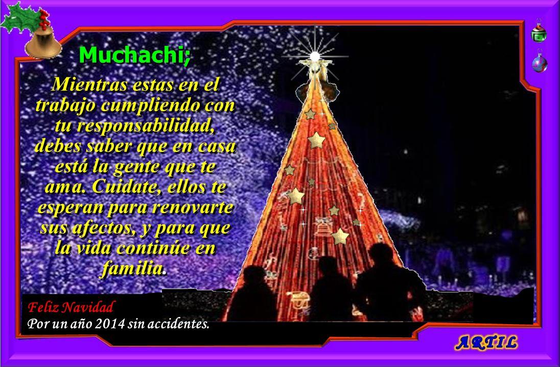 Feliz Navidad Por un año 2014 sin accidentes.