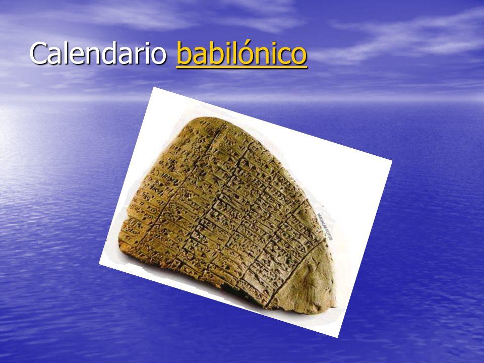 Calendario babilónico babilónico