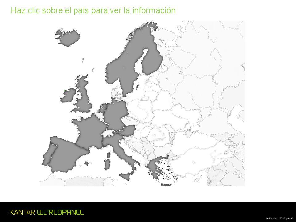 © Kantar Worldpanel Haz clic sobre el país para ver la información