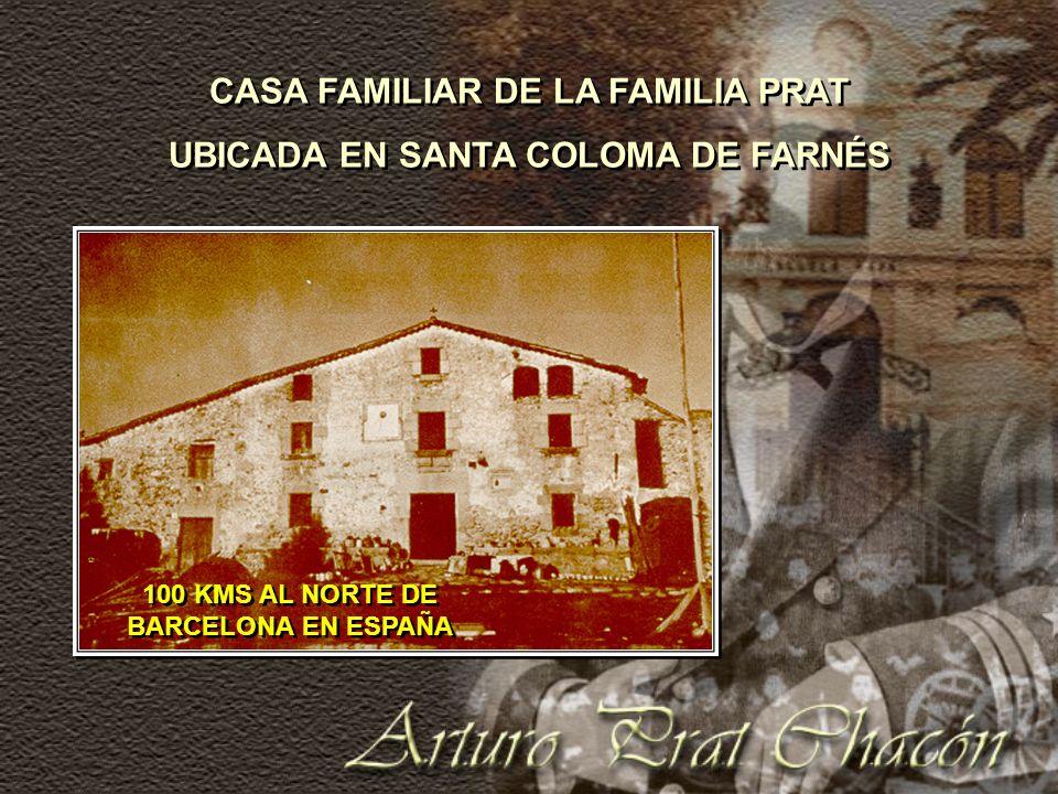 PADRE DE ARTURO, DON AGUSTÍN PRAT MADRE DE ARTURO, DOÑA ROSARIO CHACÓN