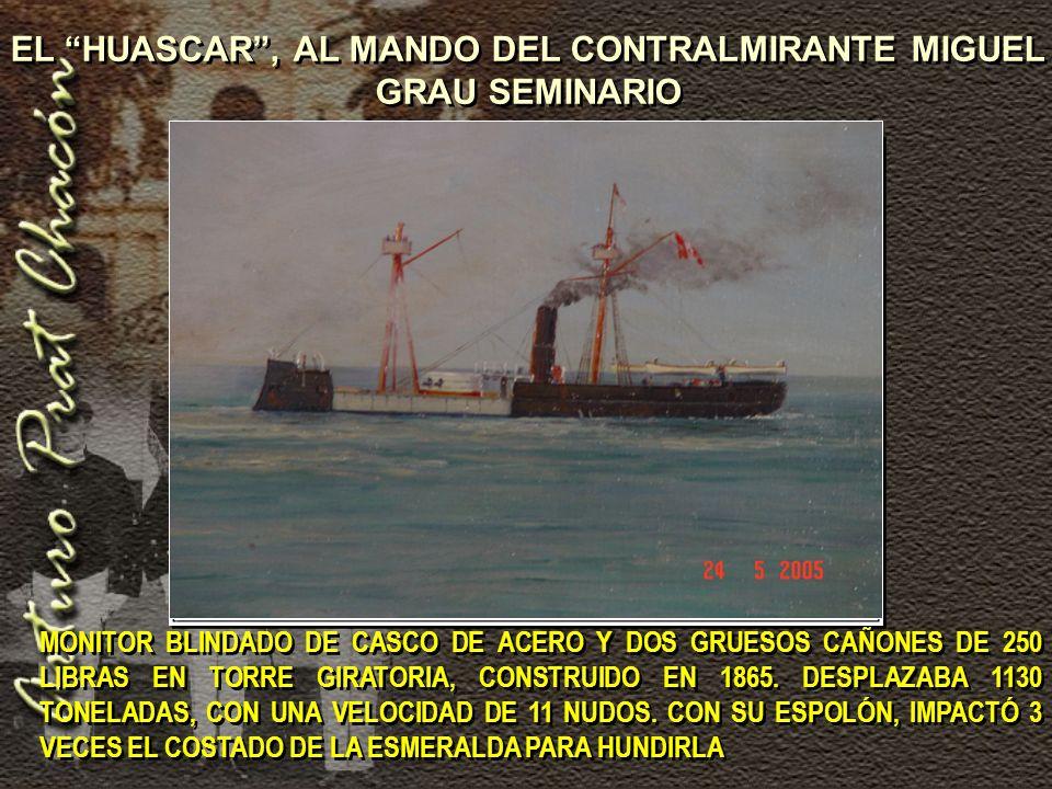MONITOR BLINDADO DE CASCO DE ACERO Y DOS GRUESOS CAÑONES DE 250 LIBRAS EN TORRE GIRATORIA, CONSTRUIDO EN 1865.