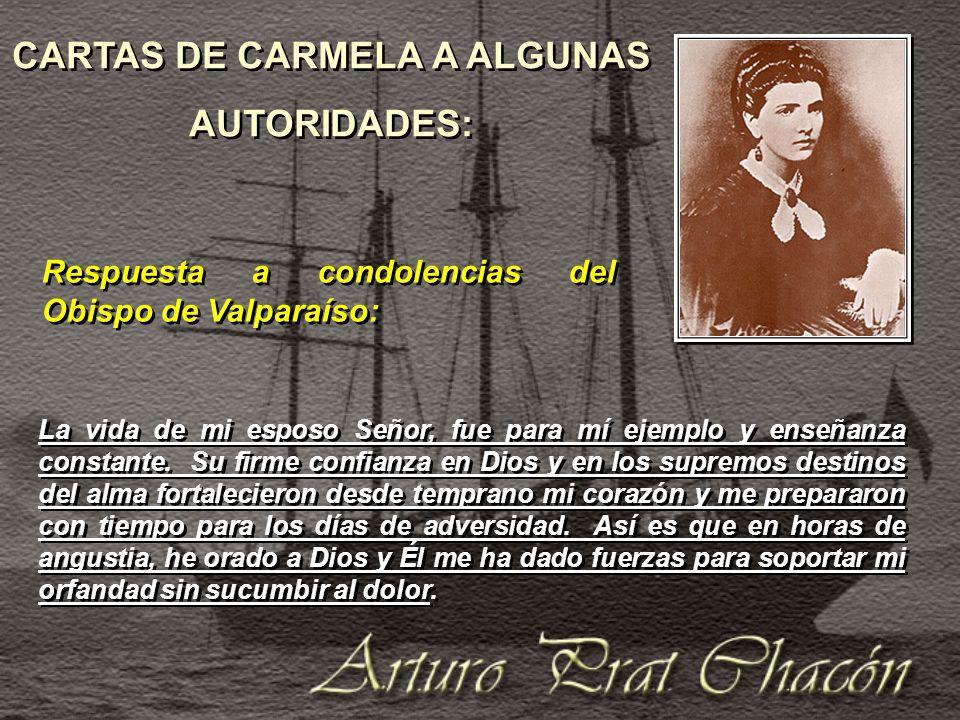 CARTAS DE CARMELA A ALGUNAS AUTORIDADES: CARTAS DE CARMELA A ALGUNAS AUTORIDADES: La vida de mi esposo Señor, fue para mí ejemplo y enseñanza constante.