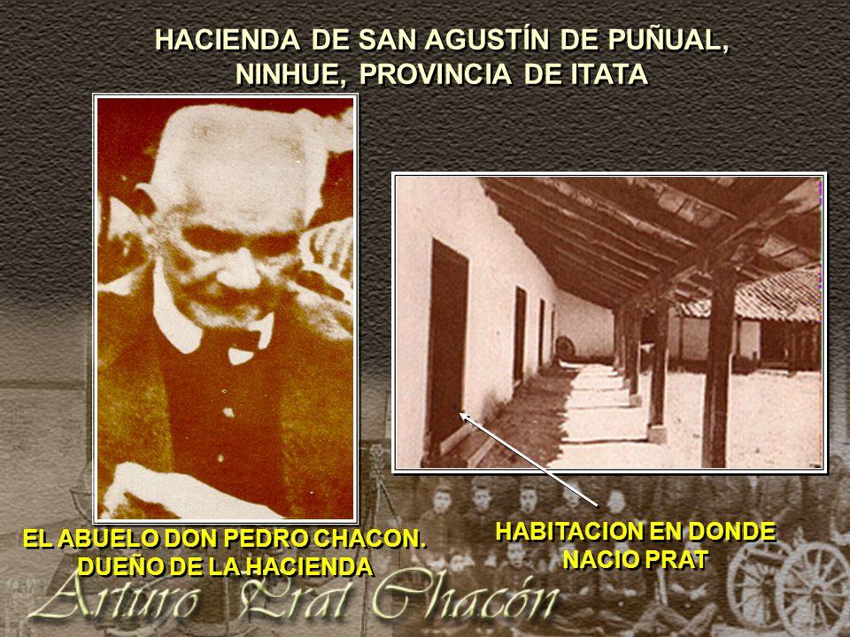LA VIDA DE ESTUDIOS Y TRANSBORDOS DE ARTURO PRAT ENTRE LOS AÑOS 1870 - 1876 1870 inicia sus estudios de humanidades y estudios de Derecho.