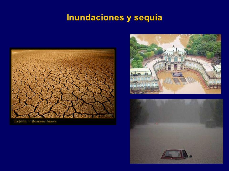 Inundaciones y sequía