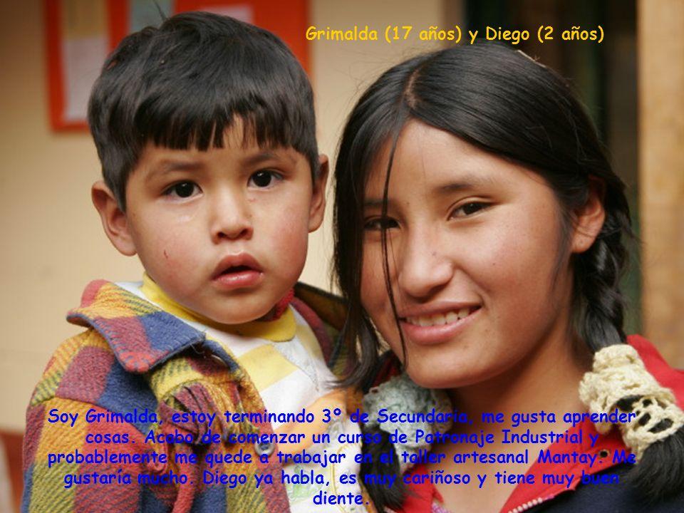 Grimalda (17 años) y Diego (2 años) Soy Grimalda, estoy terminando 3º de Secundaria, me gusta aprender cosas.