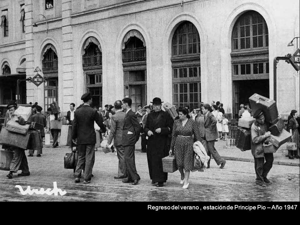Regreso del verano, estación de Principe Pio – Año 1947