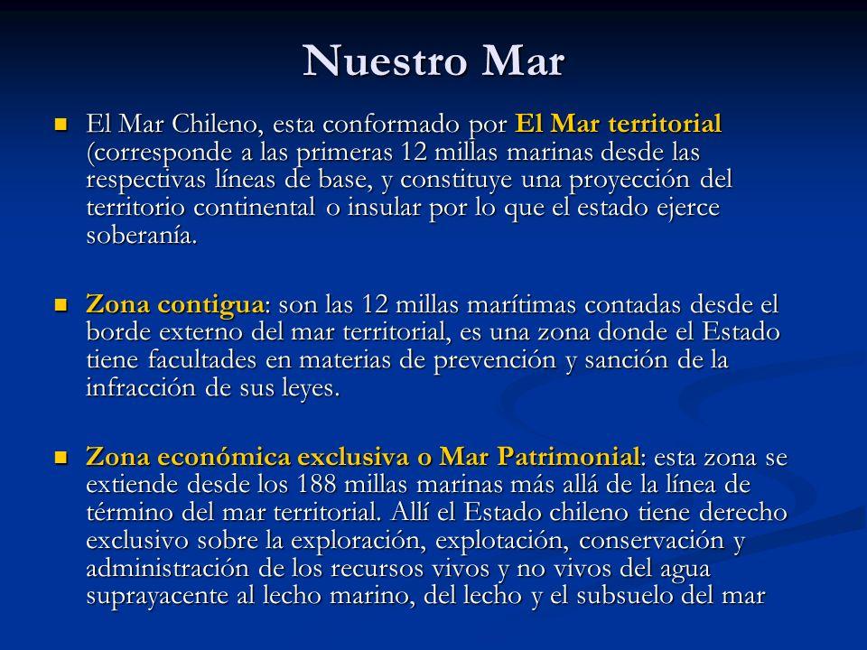 Chile y su espacio geográfico Dentro de nuestra soberanía marítima, encontramos la corriente de Humboldt, la cual se caracteriza por ser fría, desde Chiloé (aproximadamente) hacía el norte.