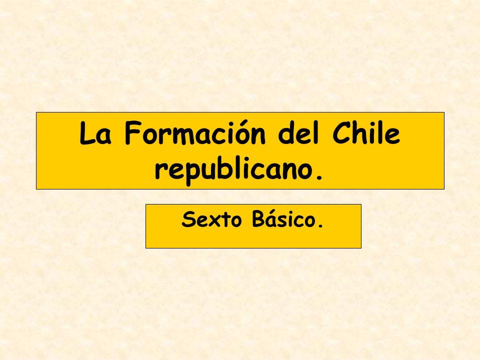 La Formación del Chile republicano. Sexto Básico.