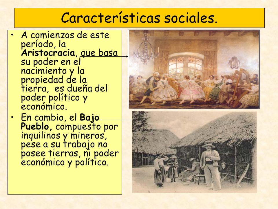 A comienzos de este período, la Aristocracia, que basa su poder en el nacimiento y la propiedad de la tierra, es dueña del poder político y económico.