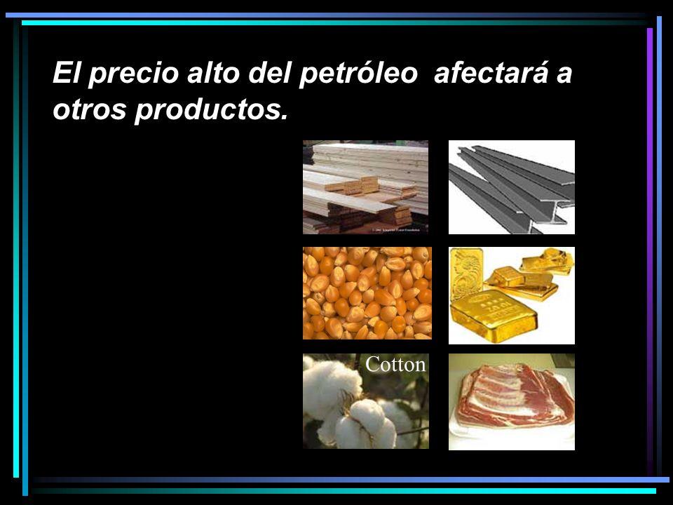 El precio alto del petróleo afectará a otros productos. Cotton
