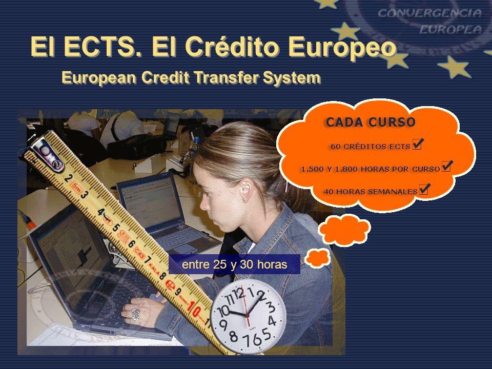 El ECTS. El Crédito Europeo European Credit Transfer System entre 25 y 30 horas