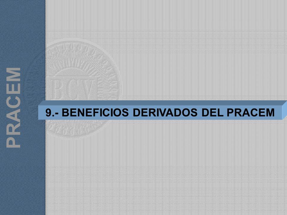 9.- BENEFICIOS DERIVADOS DEL PRACEM PRACEM