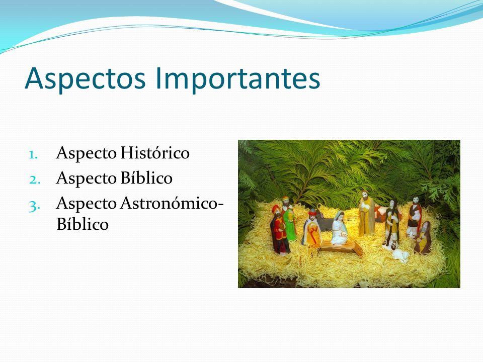Aspectos Importantes 1. Aspecto Histórico 2. Aspecto Bíblico 3. Aspecto Astronómico- Bíblico