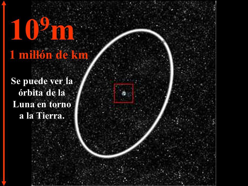 10 8 m 100.000 km La Tierra comienza a quedarse pequeña.