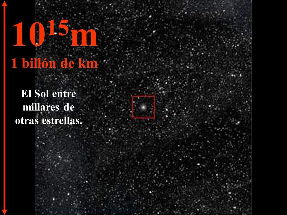 10 14 m 100.000 millones de km El Sistema Solar comienza a desaparecer en el Universo.