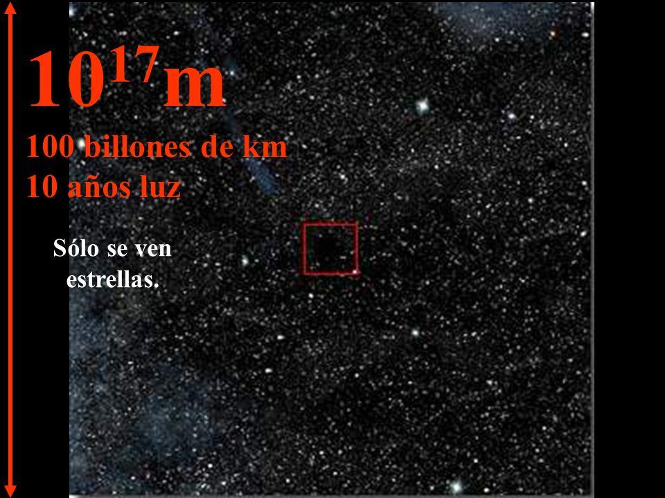 10 16 m 10 billones de km 1 año luz Cambiamos a una unidad de medida mayor.