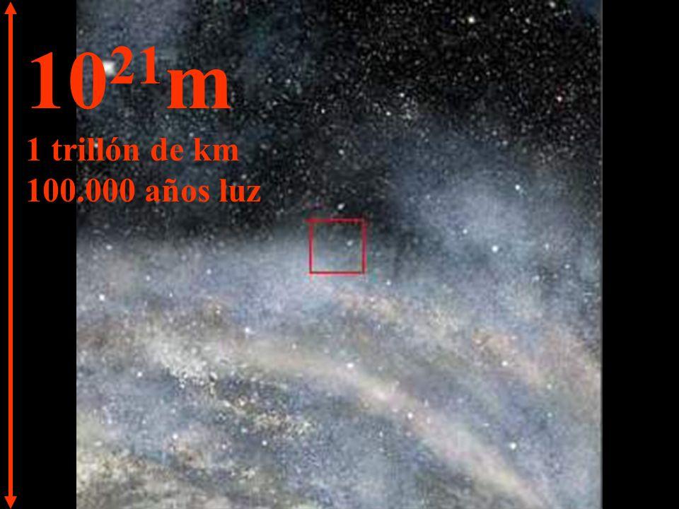 10 22 m 10 trillones de km 1 millón de años luz